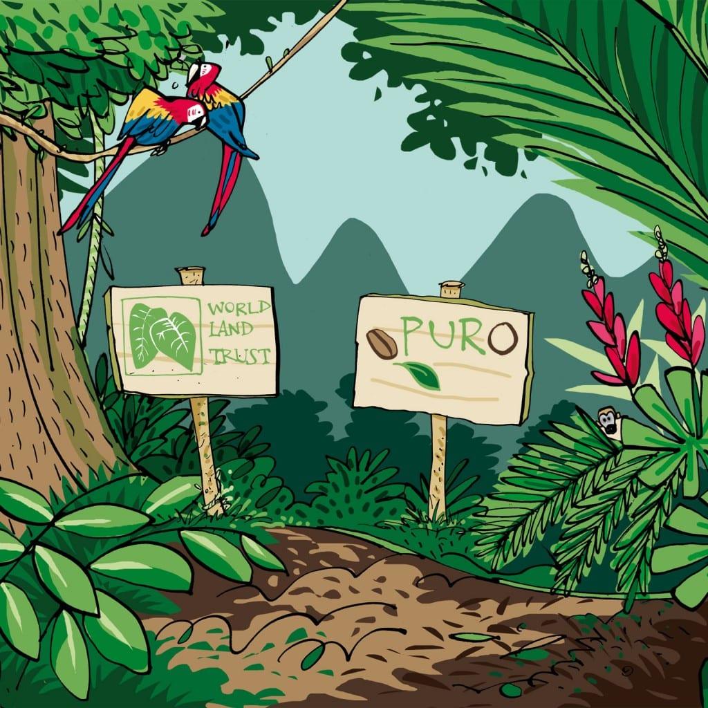 Puro Coffee støtter regnskovene