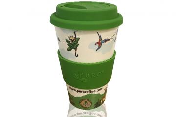 Genanvendelig bambus kaffekop