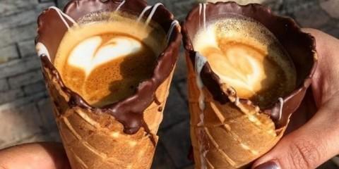 Kaffe i en kjegle