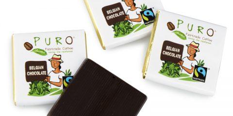 Belgisk sjokolade fra PURO til kaffen på jobben