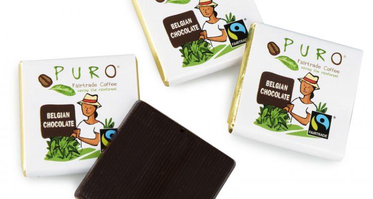 Belgisk PURO-sjokolade på jobb